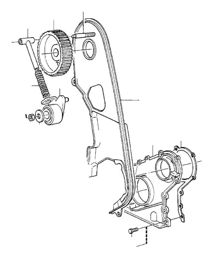 Volvo 240 Engine Crankshaft Sealing Flange Gasket  Belt