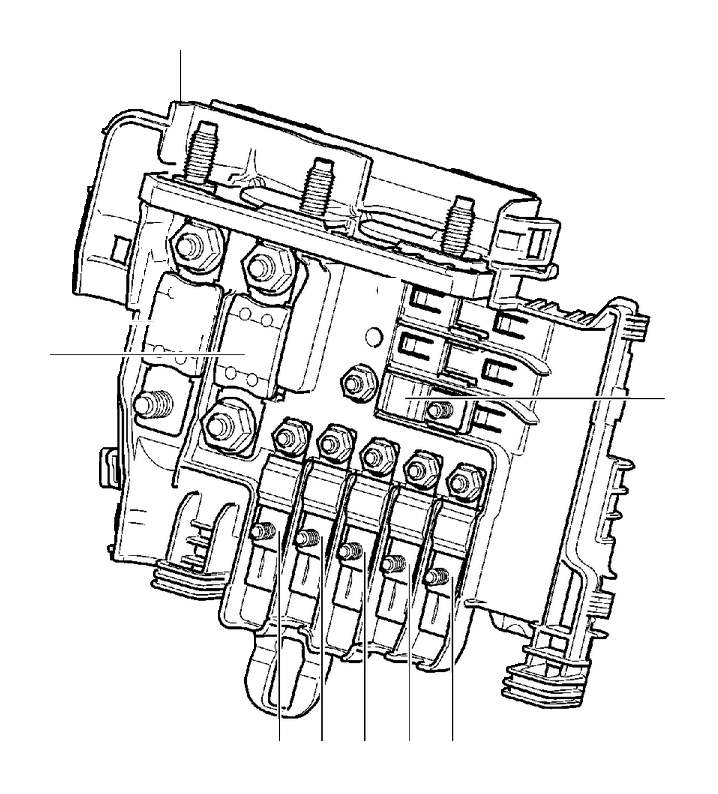 volvo s80 fuse  primary relay and fuse box engine compartment  asm   175a