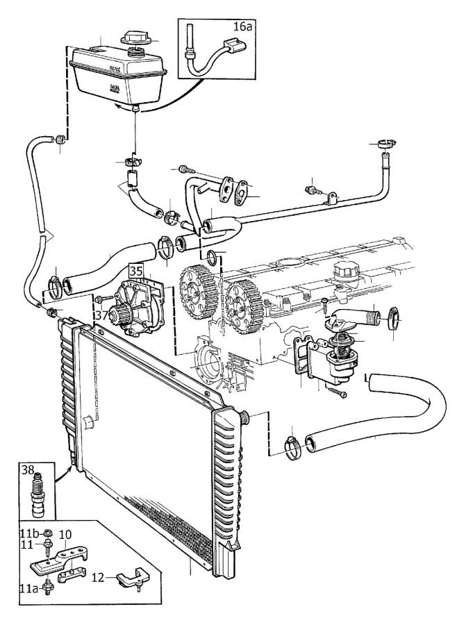 Volvo V70 Xc Engine Coolant Overflow Hose  Radiator  Hoses