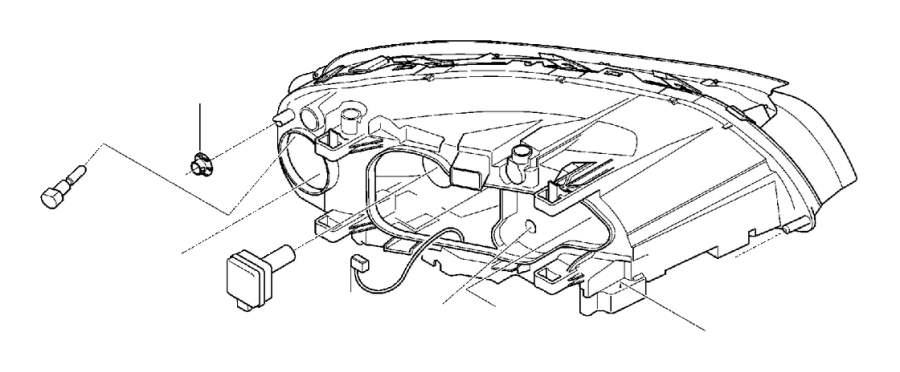 Volvo V70 Headlight Wiring Harness  Ch