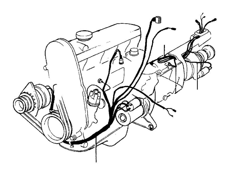 Volvo 240 Wiring Harness  Cable Harness  Engine Gearbox  Cable Harness  Engine