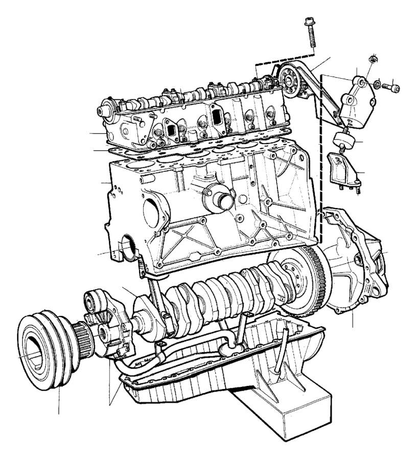 Volvo 260 Bracket  B17  B19  B21   Left   B23  Engine With