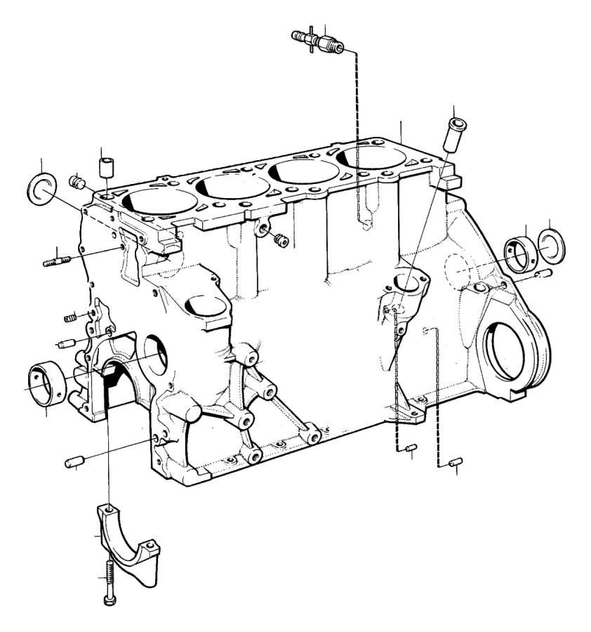 Volvo 260 Plug  B17  B19  B21  B23  Cylinder Block  Engine