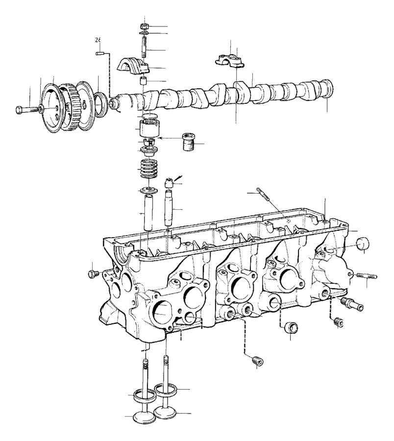 Volvo 240 Bearing Cap  B17  B19  B21  B200  B23   Rear