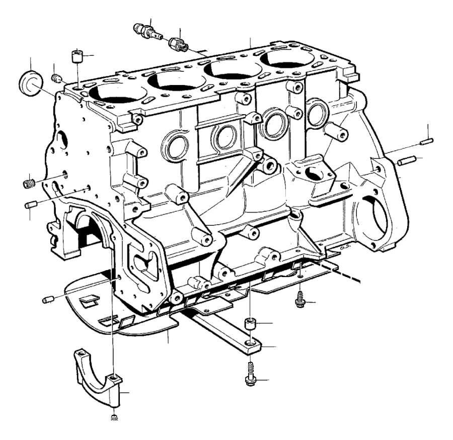 Volvo 940 Sleeve  Block  Cylinder  Engine