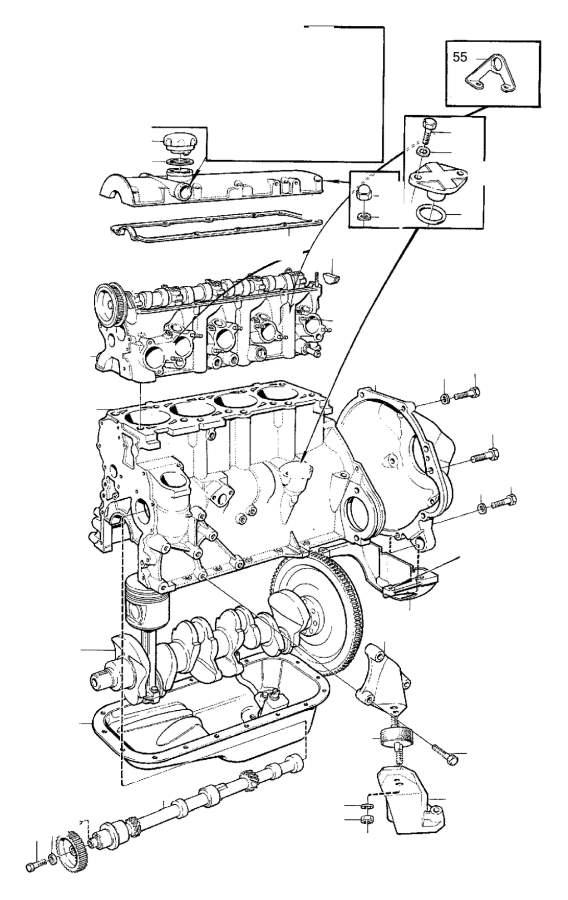 Volvo 260 Valve Cover  B17  B19  B21  B23  B21f 498576