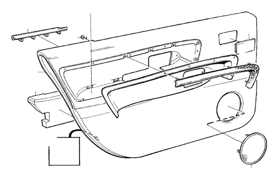 Volvo 960 Cover Panel. EXEC. Parts Door Panel. 20 22 ...