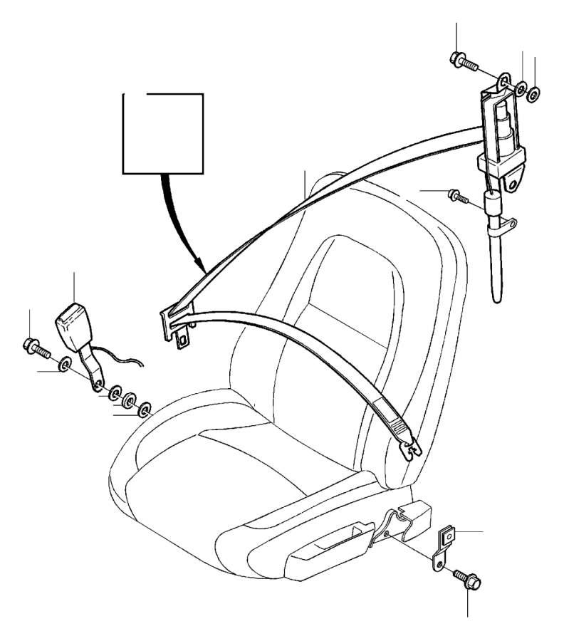 Volvo Xc90 Seat Belt Buckle Button Stop  Rear  Graphite  Grey