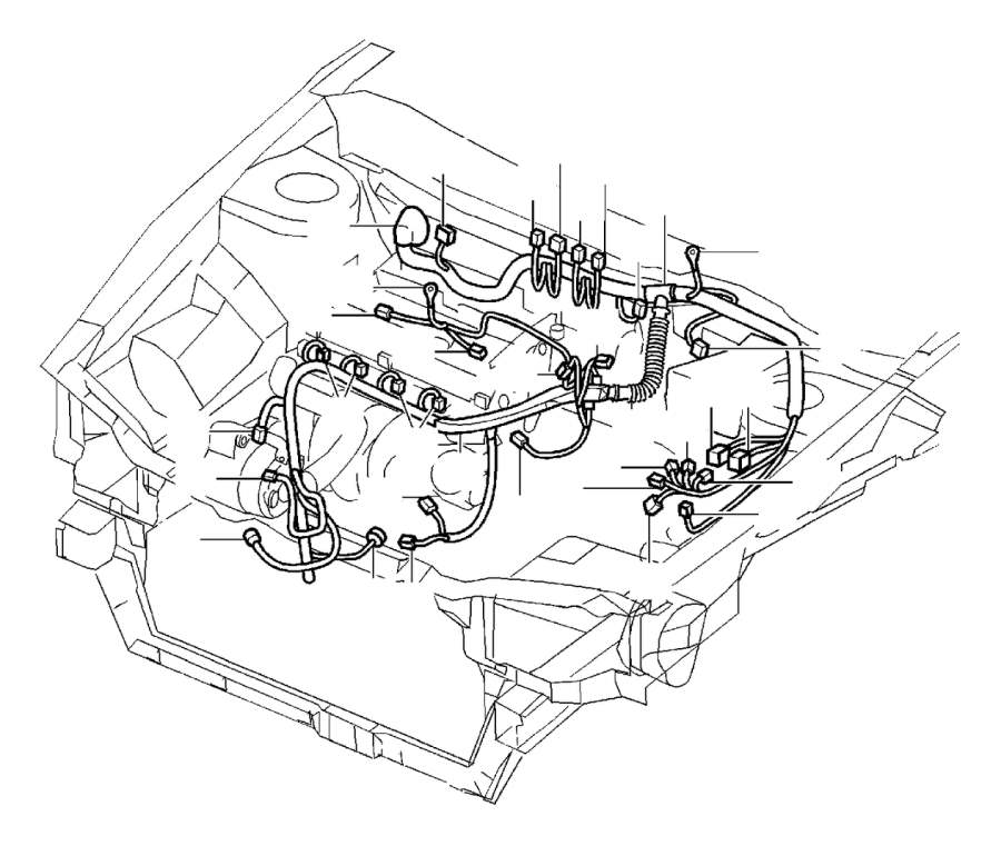 Volvo S40 Protecting Cap  Cable Conduits  Engine