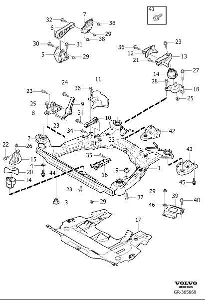 Volvo S80 Flange Screw  Trans  Suspension  Man