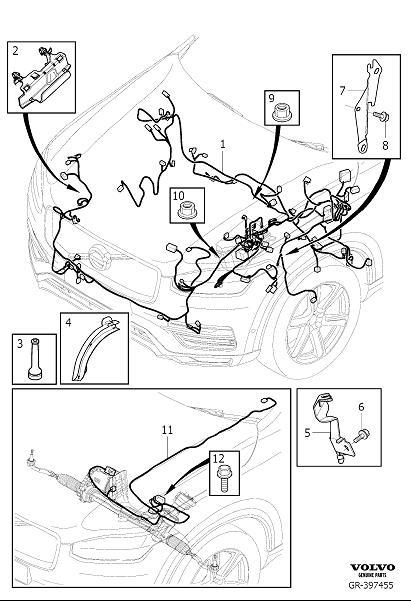 Volvo Xc90 Battery Current Sensor Bolt  Cable  Engine