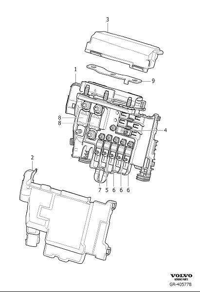 Volvo S60 Inscription Cap  Primary Relay And Fuse Box