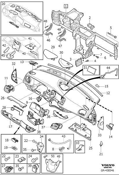 Volvo S60 Inscription Cross Member  Dashboard Body Parts