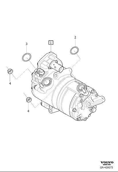 Volvo S90 O Ring  Air  Compressor  Condenser