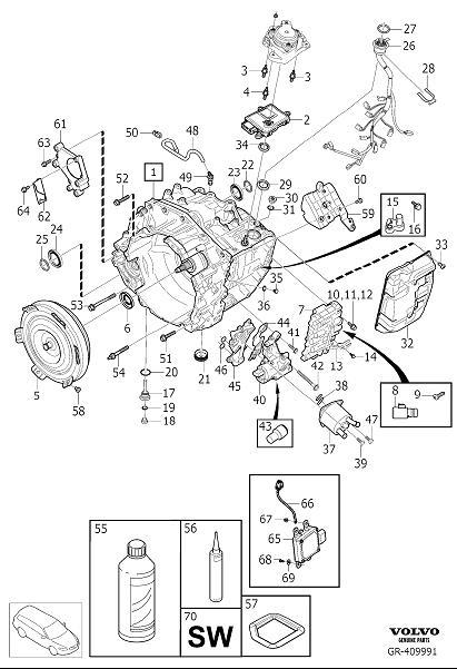 Volvo Xc90 Flange Screw  Automatic Transmission  M8x106 5