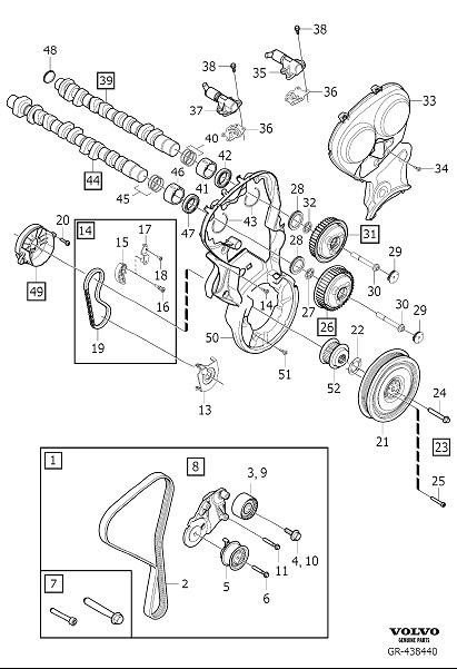 Volvo Xc70 Engine Timing Set  Timing Belt Kit