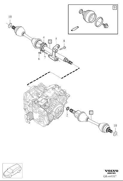 Volvo Xc40 Cv Axle Shaft Carrier Bearing  Drive Shaft Bearing