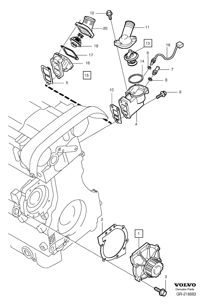 Volvo V70 Xc Cooling System Bypass Line Adapter  Nipple