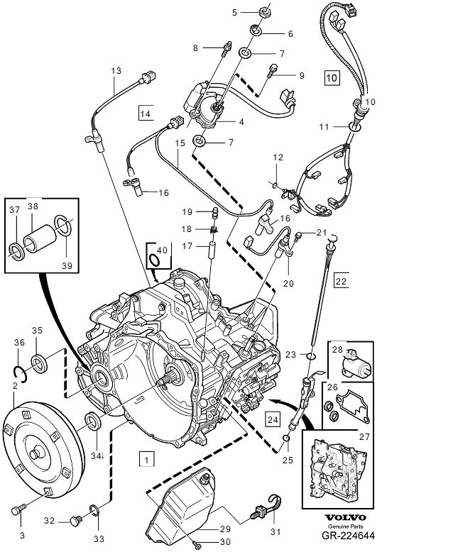 Volvo S80 Clamp  Automatic  Transmission  Gearbox