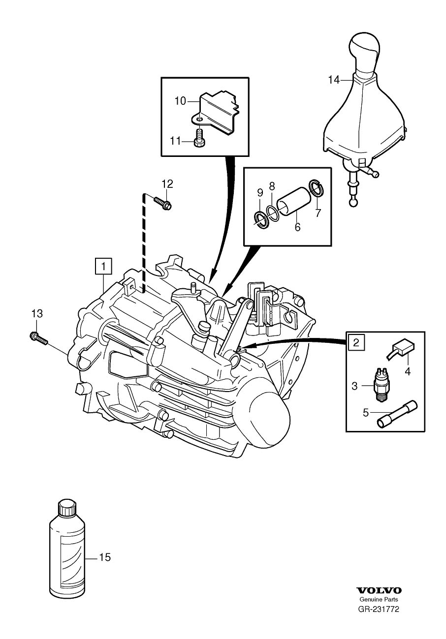 Volvo S70 O Ring  Manual  Gearbox  Transmission