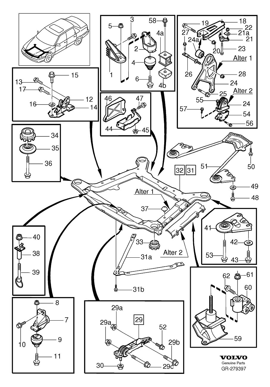 Volvo C70 Impulse Limiter  Engine Mounting  Without Turbo