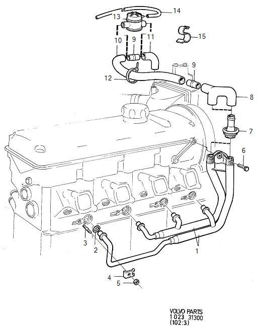 Volvo 240 Clamp  B17  B19  B21  B23  B200  B230  Crankcase