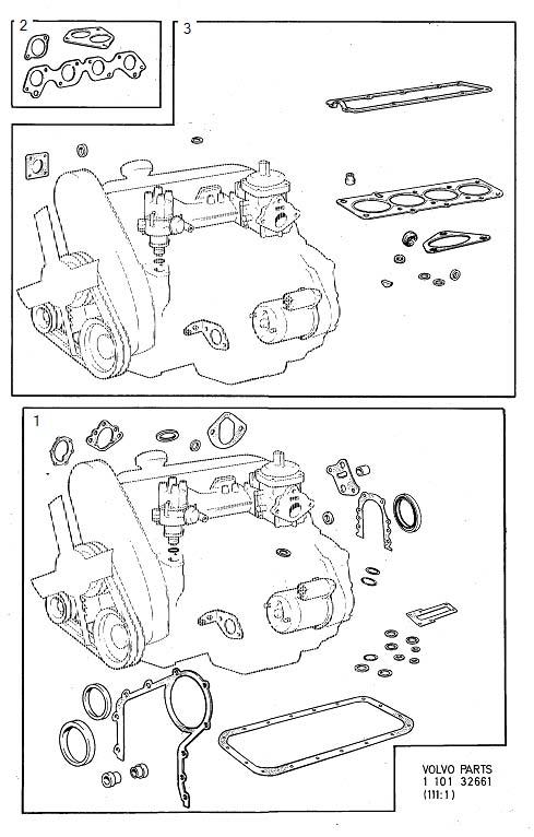 Volvo 260 Gasket Kits  B23  Supplementary  De Carburetor