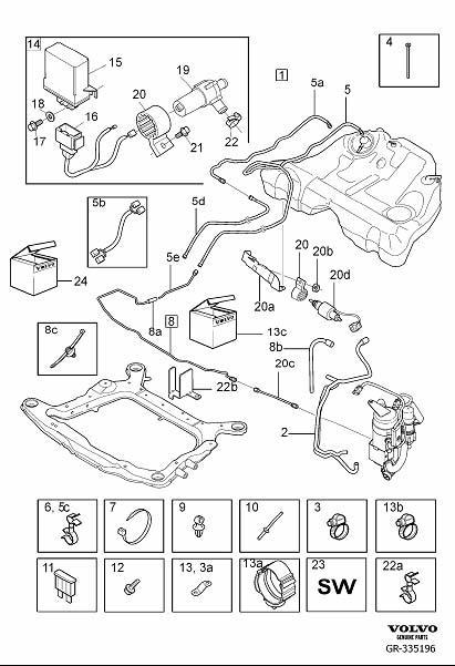 Volvo S80 Fuel Hose. Installation Kit. Parking Heater ...