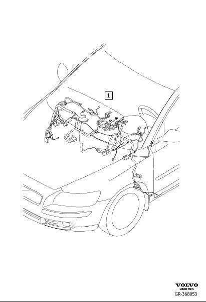 Volvo S40 Wiring Harness  Cable Harness Dashboard  Fibre Optics  Level Audio  Manual