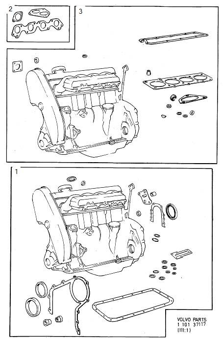 Volvo 760 Gasket Kits  B23  F I  Supplementary  De
