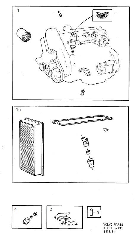 Volvo 240 Repair Kit  Adjusting Washer Kit  B17  B19  B21