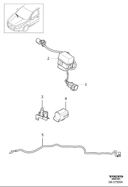 Volvo Xc70 Cover  Wiring Harness Windscreen  System