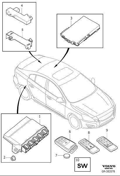 Volvo S60 Tire Pressure Monitoring System Receiver