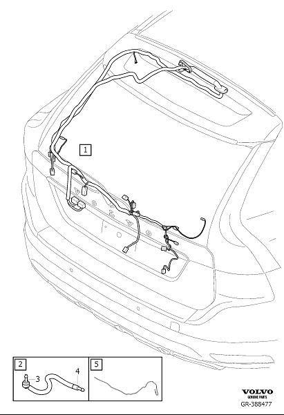 Volvo Xc60 Wiring Harness  Cable Harness Tailgate  Ch 50000-