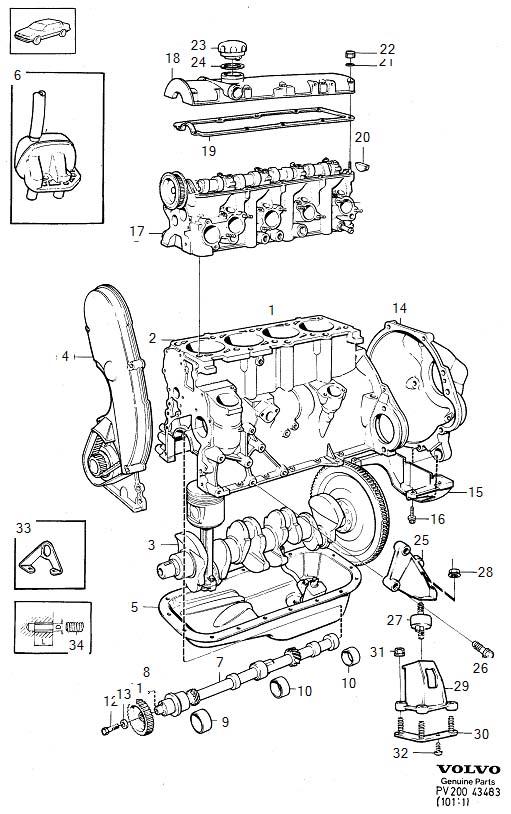 Volvo 760 Thread Insert  B17  B19  B21  B23  Engine With