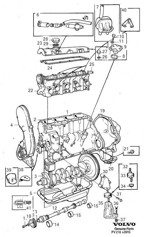 Volvo 260 Lifting Eye  B17  B19  B21  B23   Right   Engine