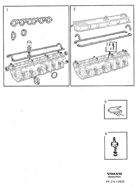 Volvo 240 Rubber Cushion Kit  Adjusting Washer Kit  B17
