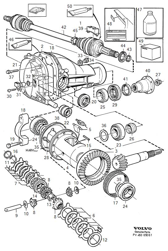 Volvo 960 Block  Axle  Differential  Rear
