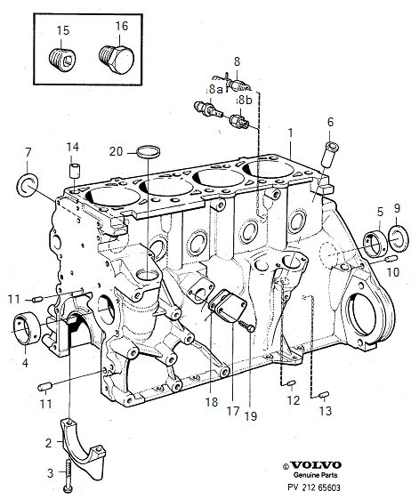 Volvo 760 Cover Plate  Block  Engine  Cylinder
