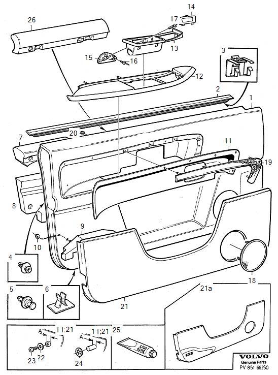 Volvo S90 Parts Door Panel  22 24   Right  Front  Beige