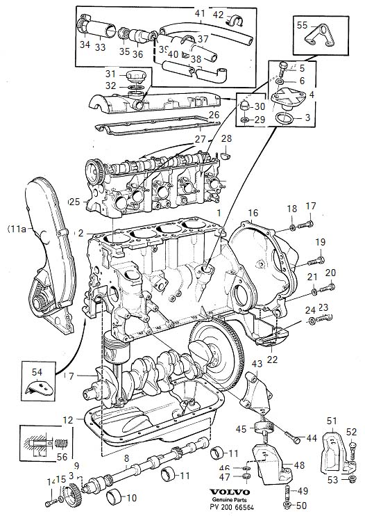 Volvo 240 Engine Mount Bracket  Left   B230f