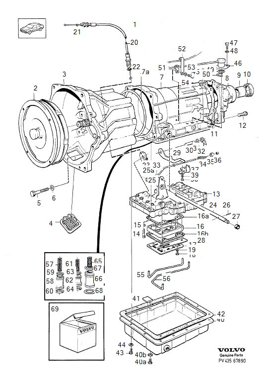 Volvo 760 Spring  Automatic  Transmission  Gearbox