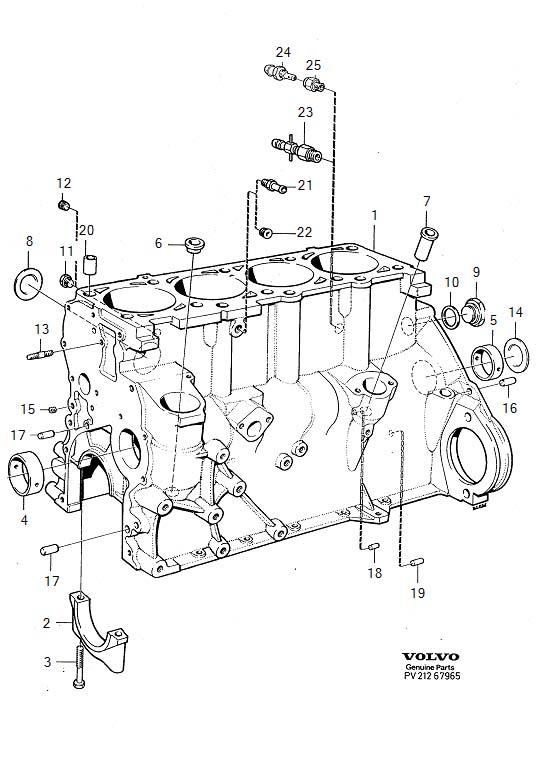 Volvo 240 Pin  Block  Cylinder  Engine