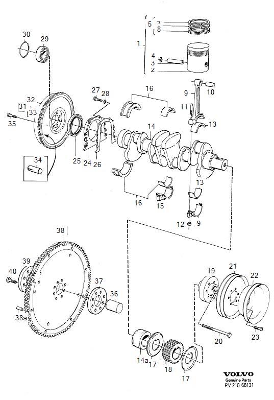 Volvo 760 Piston Ring Kit  B23  Crank Mechanism  O S 0 60