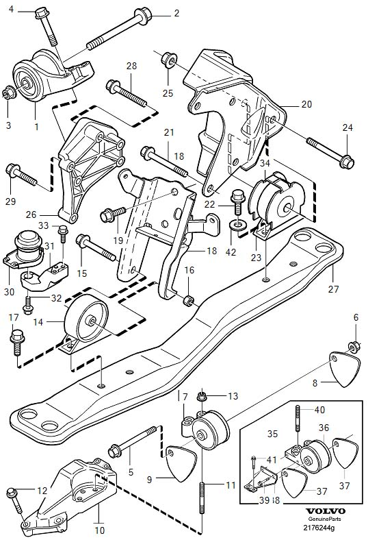 Volvo V40 Engine Bracket  Engine Mountings  Aw55 51sn